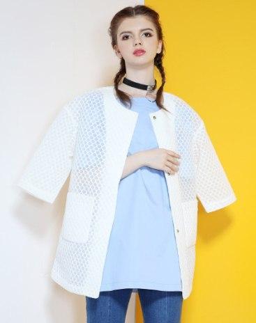 White Polyester Half Sleeve Women's Co-Ords