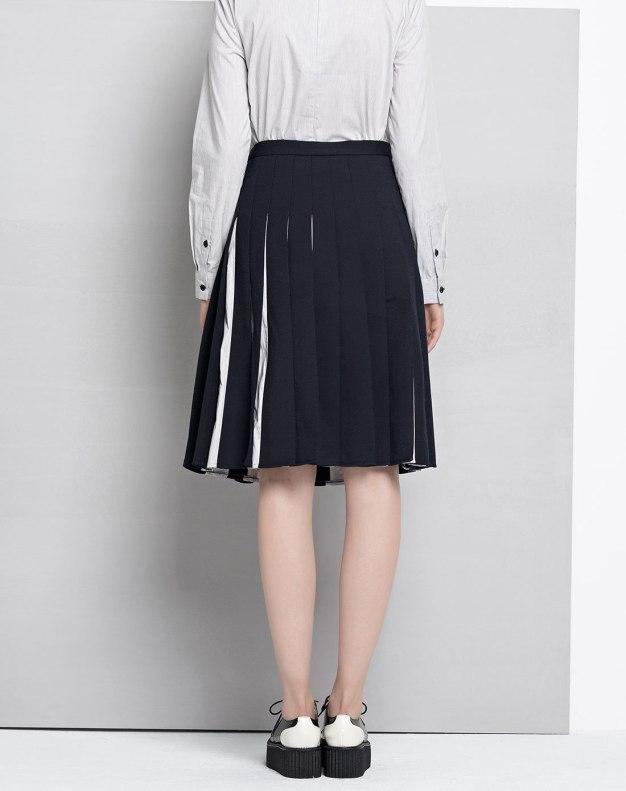 Blue High Waist 3/4 Length Women's Skirt