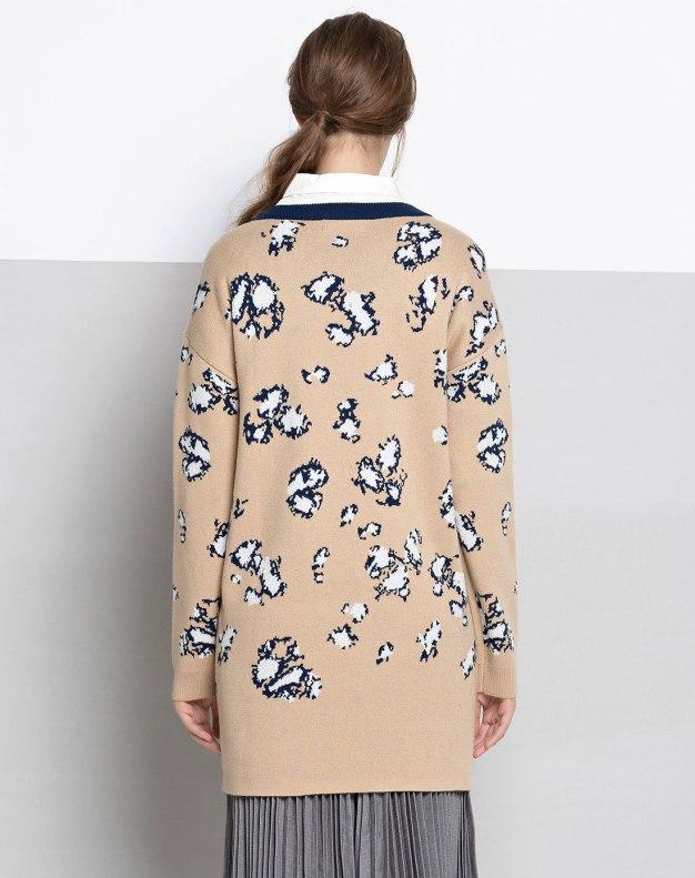Coffee 3/4 Length Women's Dress