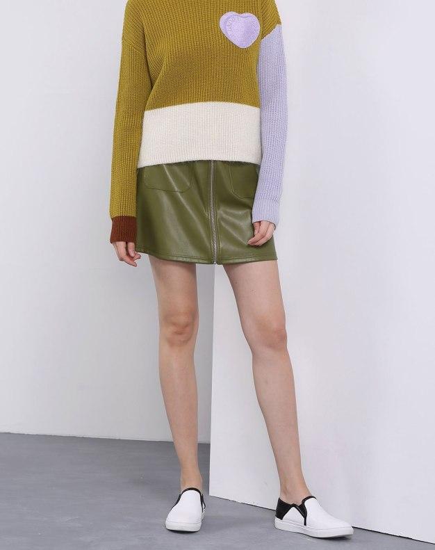 Green Women's A Line Skirt