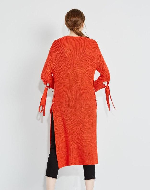 Others1 긴소매 비대칭 여성 드레스