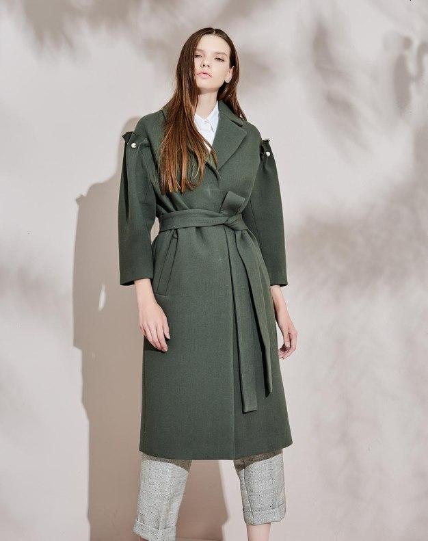 그린 여성 코트