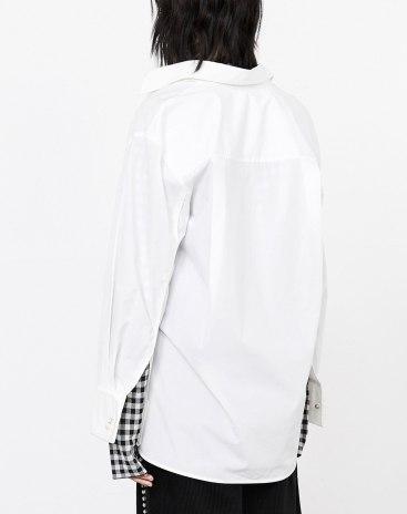 White Plain Lapel Single Breasted Long Sleeve Women's Shirt
