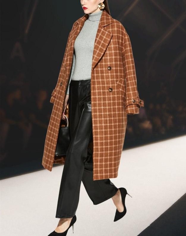 Lapel Single Breasted Long Sleeve Loose Women's Coat