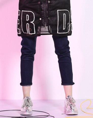 Blue Low Waist Women's Jeans