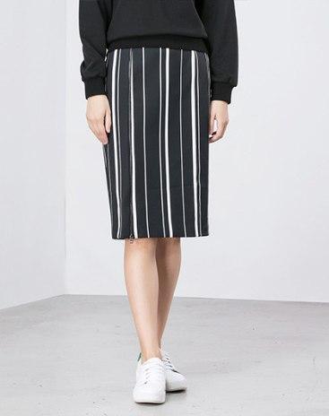 White 3/4 Length Women's Bodycon Skirt