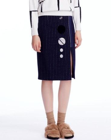 Indigo 3/4 Length Women's Bodycon Skirt