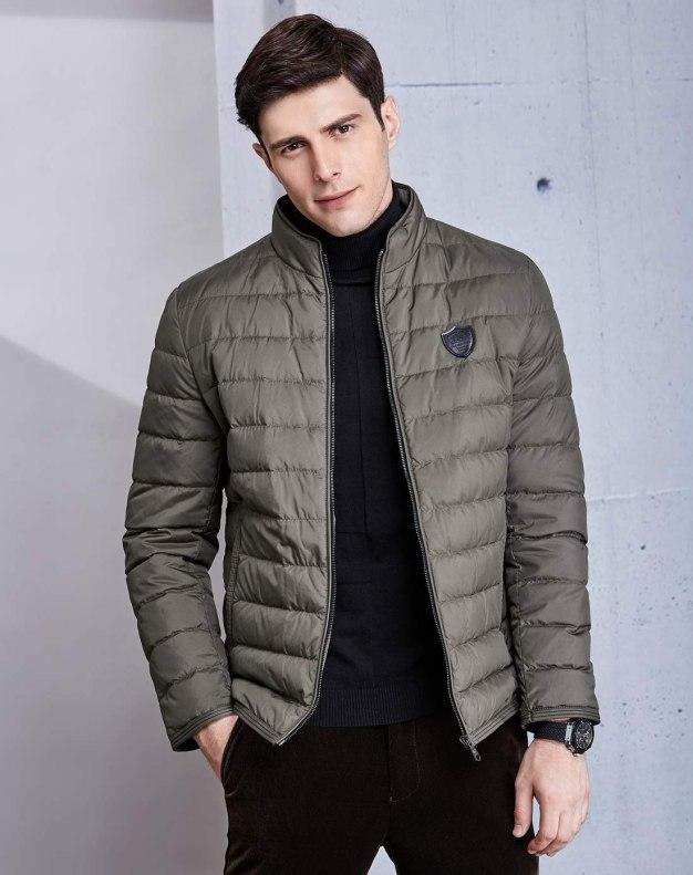 Stand Collar Standard Men's Down Coat