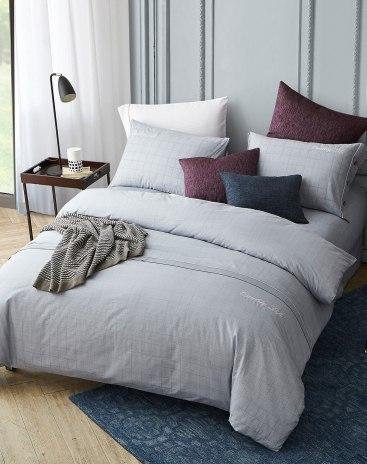 4 pieces Sheets type Cotton Blue Bedding Set