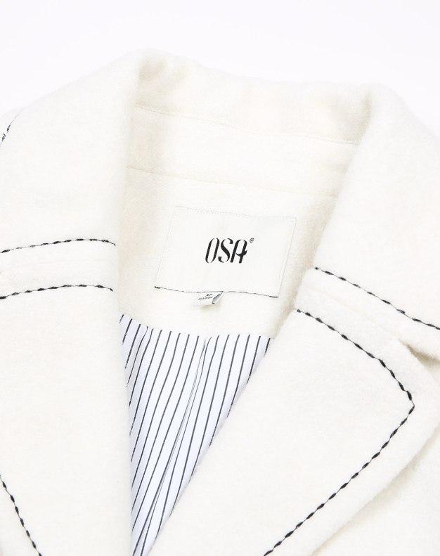 Plain Lapel Double Breasted Long Sleeve Standard Women's Coat