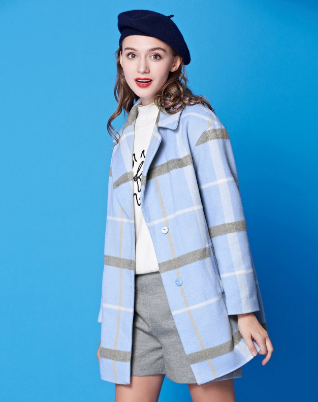 Lapel Single Breasted Long Sleeve Fitted Women's Coat