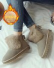Apricot Round Head Flat Anti Skidding Women's Boots