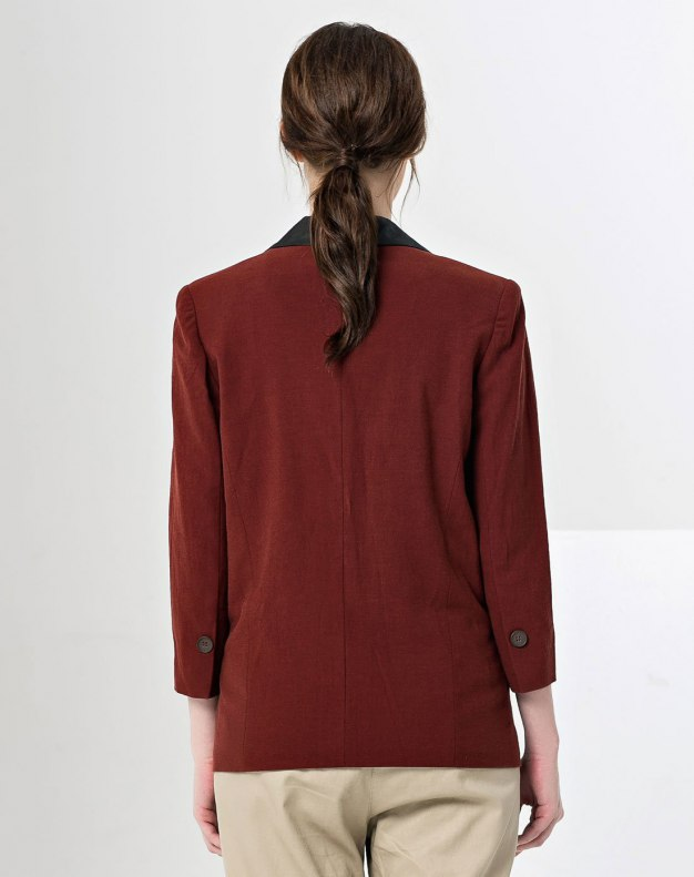 Regular Collar One Botton Long Sleeve Women's Suit & Blazers
