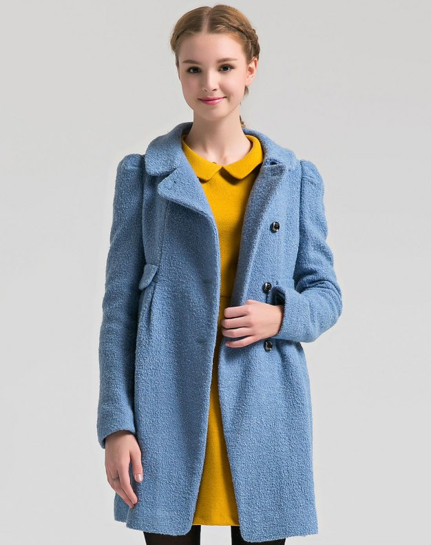 Lapel Single Breasted Women's Coat