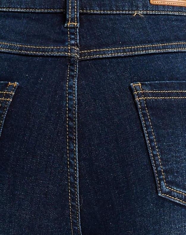 Blue Paneled Women's Jeans