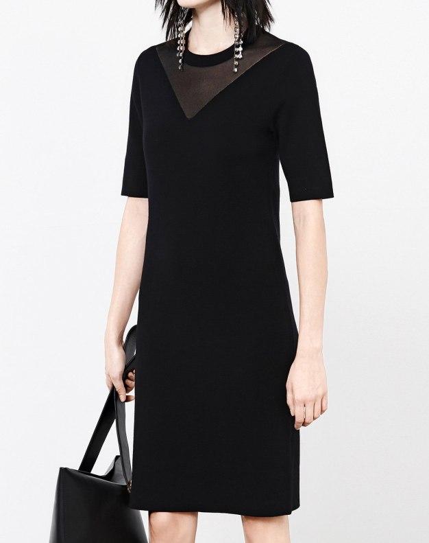 블랙 반팔 티셔츠 여성 드레스