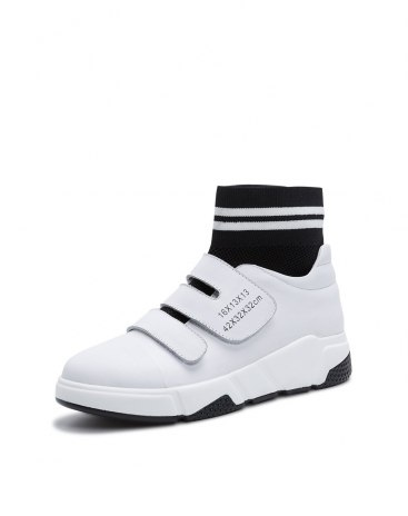 White High Top Middle Heel Women's Casual Shoes