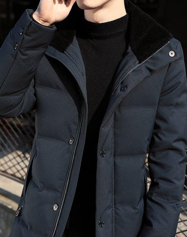 Blue Men's Down Coat