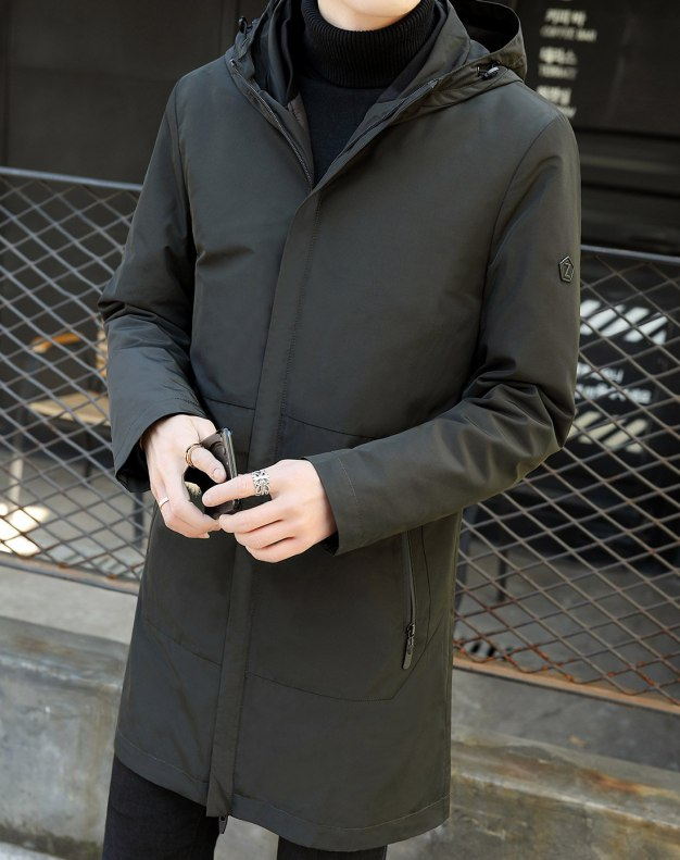 Hidden Hood Long Sleeve Standard Men's Outerwear