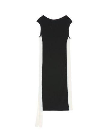 Black Round Neck Sleeveless Women's Dress