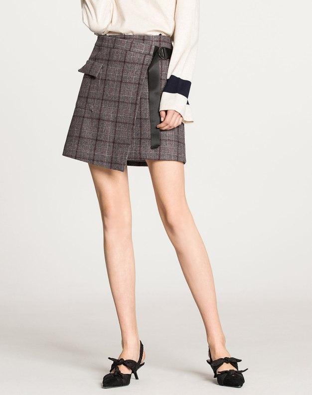 Gray Women's A Line Skirt