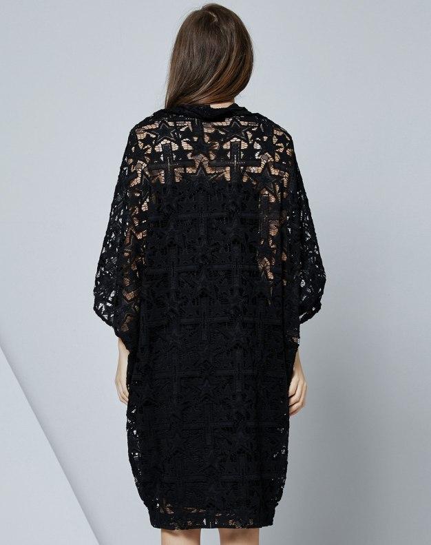 블랙 크롭 슬리브 여성 드레스