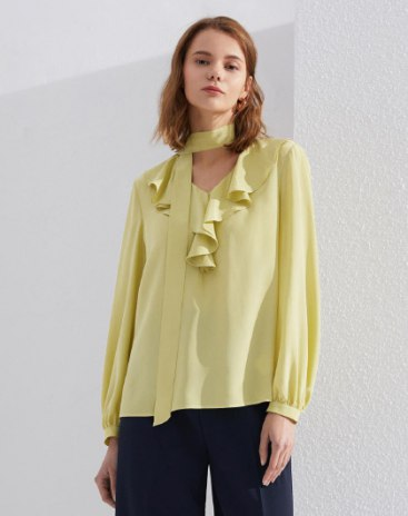 Yellow Plain Women's Shirt