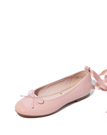 Pink Round Head Flat Women's Shoes