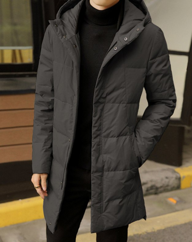 Gray Men's Down Coat