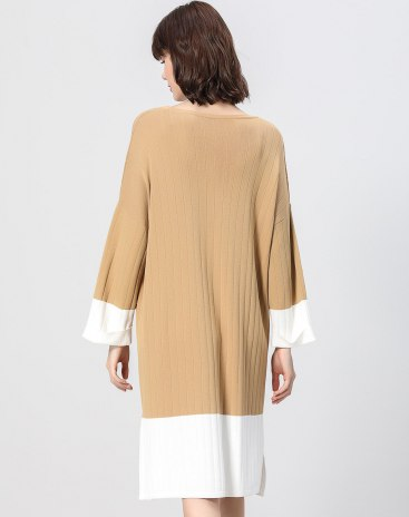 Round Neck Elastic Long Sleeve Loose Women's Sweater