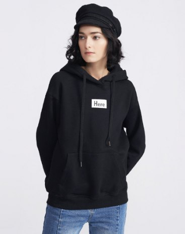 Black Long Sleeve Loose Women's Sweatshirt