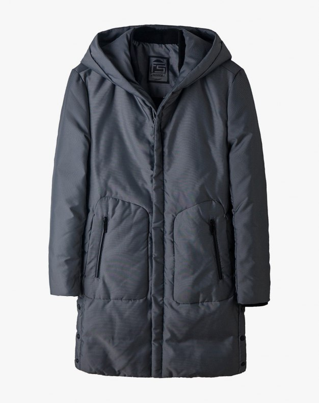 Silver Men's Down Coat