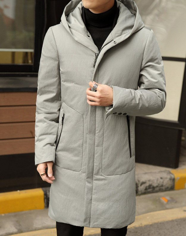 White Men's Down Coat