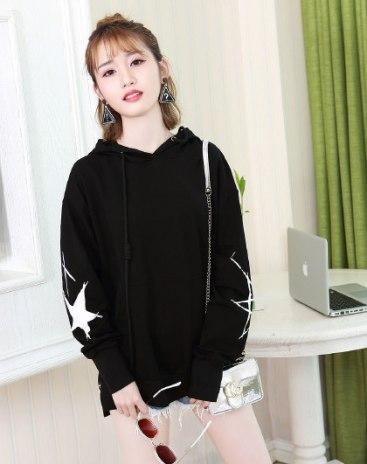 Black Long Sleeve Women's Sweatshirt