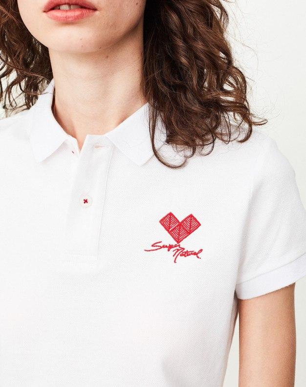 Indigo Lapel Short Sleeve Fitted Women's T-Shirt
