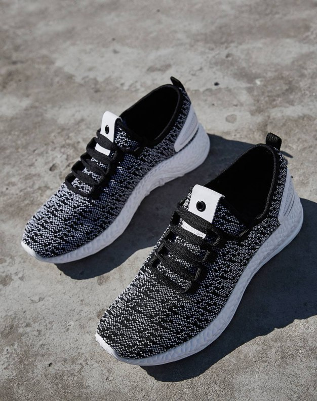 Gray Round Head Men's Casual Shoes