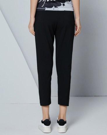 Black Low Waist Cropped Women's Pants