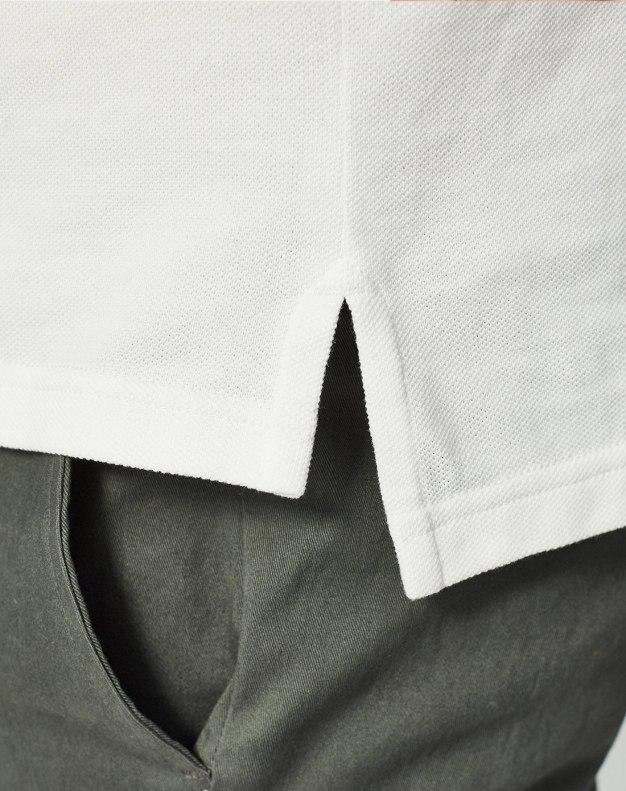 White Lapel Short Sleeve Standard Men's Polo