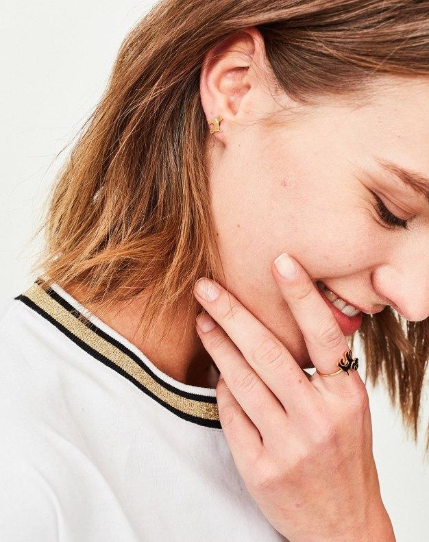Gold Cute Animal Earrings
