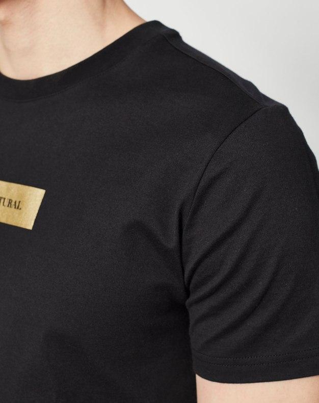 Black Round Neck Short Sleeve Standard Men's T-Shirt