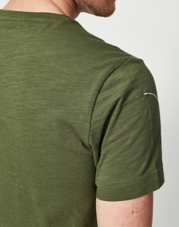Green Round Neck Short Sleeve Standard Men's T-Shirt
