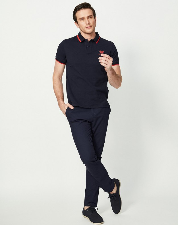 Lapel Short Sleeve Standard Men's Polo