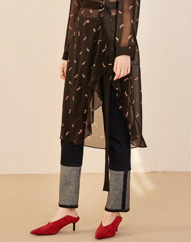블루 모자이크 디자인 미드  여성