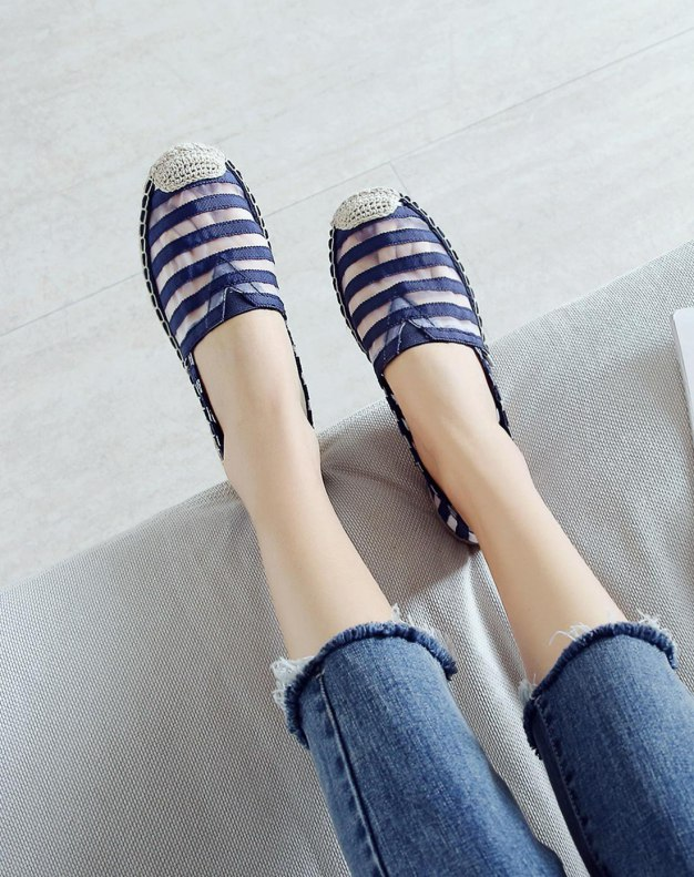 Blue Round Head Flat Women's Casual Shoes