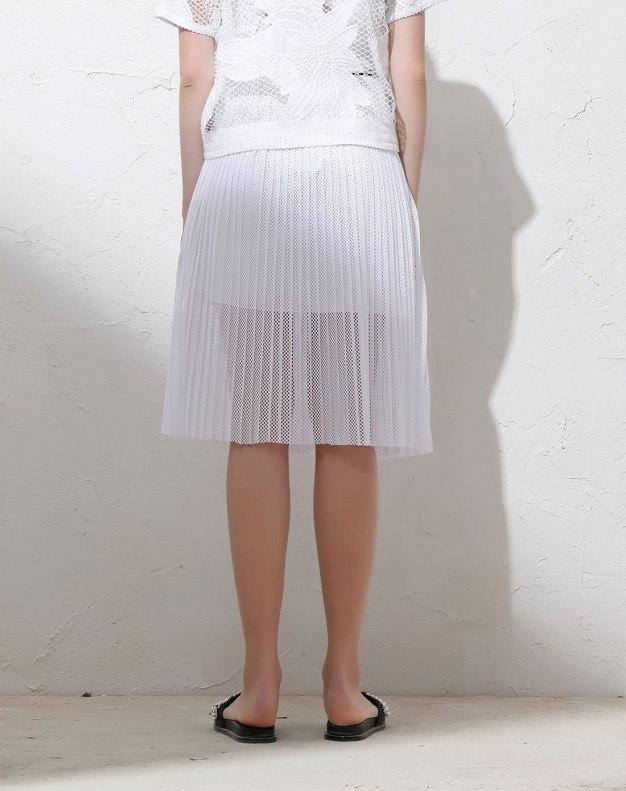 White 3/4 Length Women's Skirt