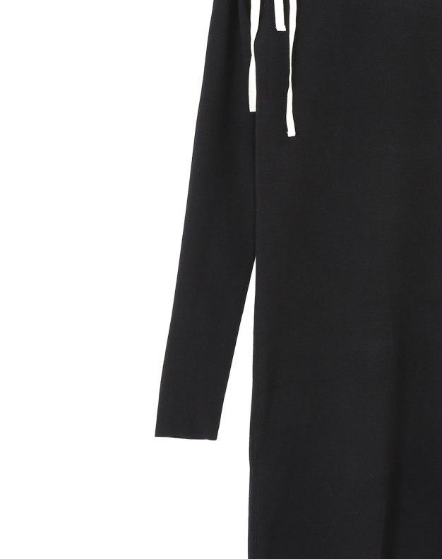 블랙 긴소매 여성 드레스