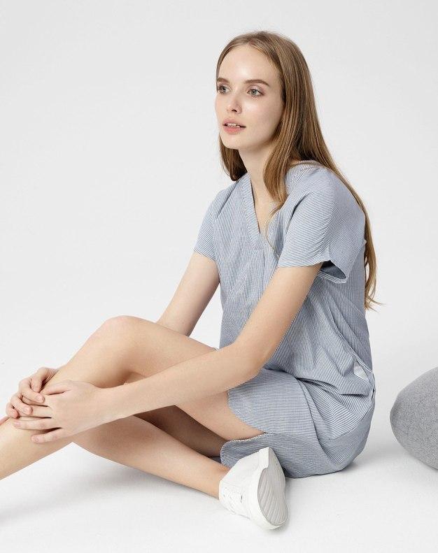 Cotton Short Sleeve Standard Women's Sleepwear