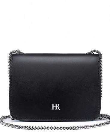 Black Plain Cowhide Leather Messenger Bag Mini Women's Crossbody Bag