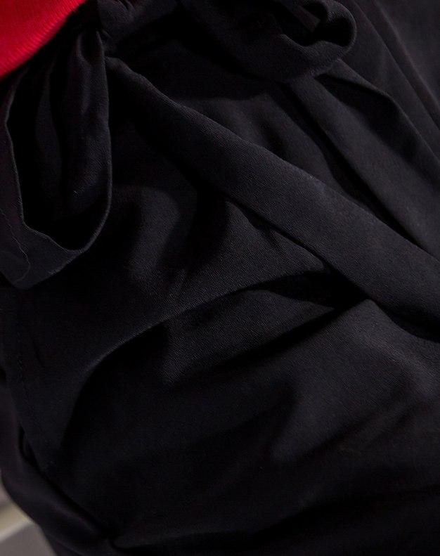 Black Open Line Long Women's Pants