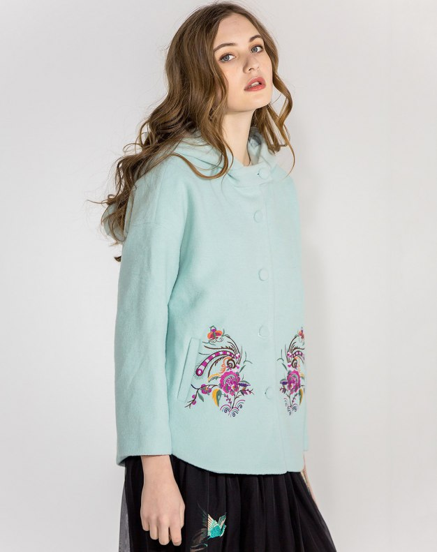 Lapel Single Breasted Long Sleeve Standard Women's Coat